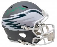 "Carson Wentz Signed Eagles Full-Size AMP Alternate Speed Helmet Inscribed ""AO1"" (Fanatics Hologram) at PristineAuction.com"