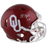 """Baker Mayfield Signed Oklahoma Sooners Full-Size Authentic On-Field Speed Helmet Inscribed """"HT 17"""" (Fanatics Hologram) at PristineAuction.com"""