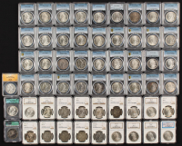 Lot of (57) 1878-1921 Morgan Silver Dollars (NGC, PCGS, ANACS & ICG) at PristineAuction.com