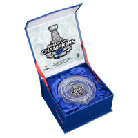 St. Louis Blues 2019 NHL Stanley Cup Champions Crystal Puck (Fanatics Hologram) at PristineAuction.com