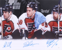 "Eric Lindros, Mikael Renberg & John LeClair Signed Flyers ""Legion of Doom"" 16x20 Photo (JSA COA) at PristineAuction.com"