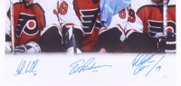 "Eric Lindros, Mikael Renberg & John LeClair Signed Flyers ""Legion of Doom"" 16x20 Photo (JSA COA) at PristineAuction.com"