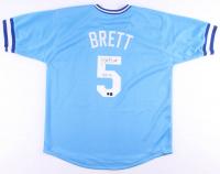 "George Brett Signed Jersey Inscribed ""HOF 99"" (Tennzone COA & Brett Hologram) at PristineAuction.com"