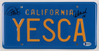 """Cheech Marin & Tommy Chong Signed """"Up in Smoke"""" 6x12 License Plate Inscribed """"18"""" (Beckett COA) at PristineAuction.com"""