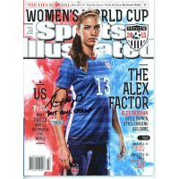 "Alex Morgan Signed 2015 Sports Illustrated Magazine Inscribed ""2015 WWC Champ"" (Fanatics Hologram) at PristineAuction.com"