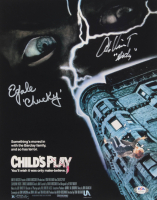 """Alex Vincent & Ed Gale Signed """"Child's Play"""" 11x14 Photo Inscribed """"Andy"""" & """"Chucky"""" (PSA COA) at PristineAuction.com"""