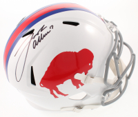 Josh Allen Signed Bills Throwback Full-Size Speed Helmet (JSA COA) at PristineAuction.com