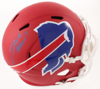 Josh Allen Signed Bills Full-Size AMP Alternate Speed Helmet (JSA COA) at PristineAuction.com