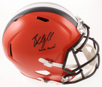 "Baker Mayfield Signed Browns Full-Size Speed Helmet Inscribed ""Dawg Pound!"" (JSA COA) at PristineAuction.com"