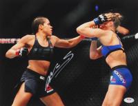 Amanda Nunes Signed UFC 11x14 Photo (PSA COA) at PristineAuction.com