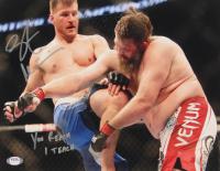 """Stipe Miocic Signed UFC 11x14 Photo Inscribed """"You Reach I Teach"""" (PSA COA) at PristineAuction.com"""