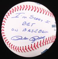 "Pete Rose Signed OML Baseball Inscribed ""I'm Sorry I Bet On Baseball"" (JSA COA) at PristineAuction.com"
