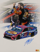 Martin Truex Jr. Signed NASCAR #19 11x14 Photo (PA COA) at PristineAuction.com
