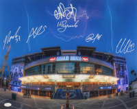 Lightning 16x20 Photo Team-Signed by (6) with Victor Hedman, Yanni Gourde, Andrei Vasilevskiy, Mikhail Sergachev (JSA COA) at PristineAuction.com