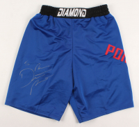 "Dustin Poirier Signed UFC Trunks Inscribed ""The Diamond"" (PSA COA) at PristineAuction.com"