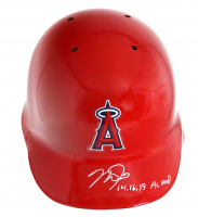 """Mike Trout Signed Angels Full-Size Authentic On-Field Batting Helmet Inscribed """"14, 16, 19 AL MVP"""" (MLB Hologram) at PristineAuction.com"""