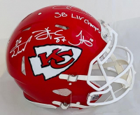 Super Bowl IV Champion Kansas City Chiefs Full-Size Authentic On-Field Speed Helmet Signed by (4) With Travis Kelce, Tyreek Hill, Sammy Watkins & Damien Williams (Beckett COA) at PristineAuction.com