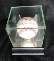 Mickey Mantle, Ted Williams & Joe Dimaggio Signed OAL Baseball with High Quality Display Case (PSA LOA) at PristineAuction.com