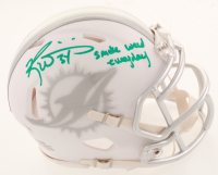 """Ricky Williams Signed Dolphins White ICE Speed Mini Helmet Inscribed """"Smoke Weed Everyday"""" (Beckett COA) at PristineAuction.com"""