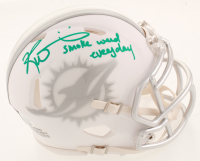 "Ricky Williams Signed Dolphins White ICE Speed Mini Helmet Inscribed ""Smoke Weed Everyday"" (JSA COA) at PristineAuction.com"