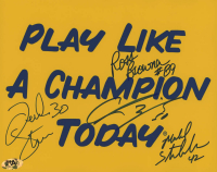 "Notre Dame Fighting Irish ""Play Like A Champion Today"" 8x10 Photo Signed by (4) with Frank Stams, Mike Stonebreaker, Chris Zorich & Ross Browner (MAB Hologram) at PristineAuction.com"