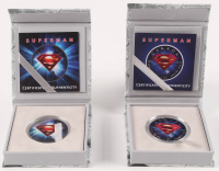 Lot of (2) 2016 Elizabeth II $5 Five Canadian Dollar Superman Silver Coins at PristineAuction.com