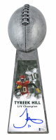 """Tyreek Hill Signed Chiefs 15"""" Lombardi Football Championship Trophy (Beckett COA) at PristineAuction.com"""