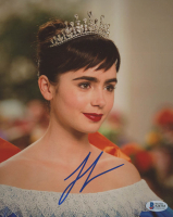 """Lily Collins Signed """"Mirror Mirror"""" 8x10 Photo (Beckett COA) at PristineAuction.com"""
