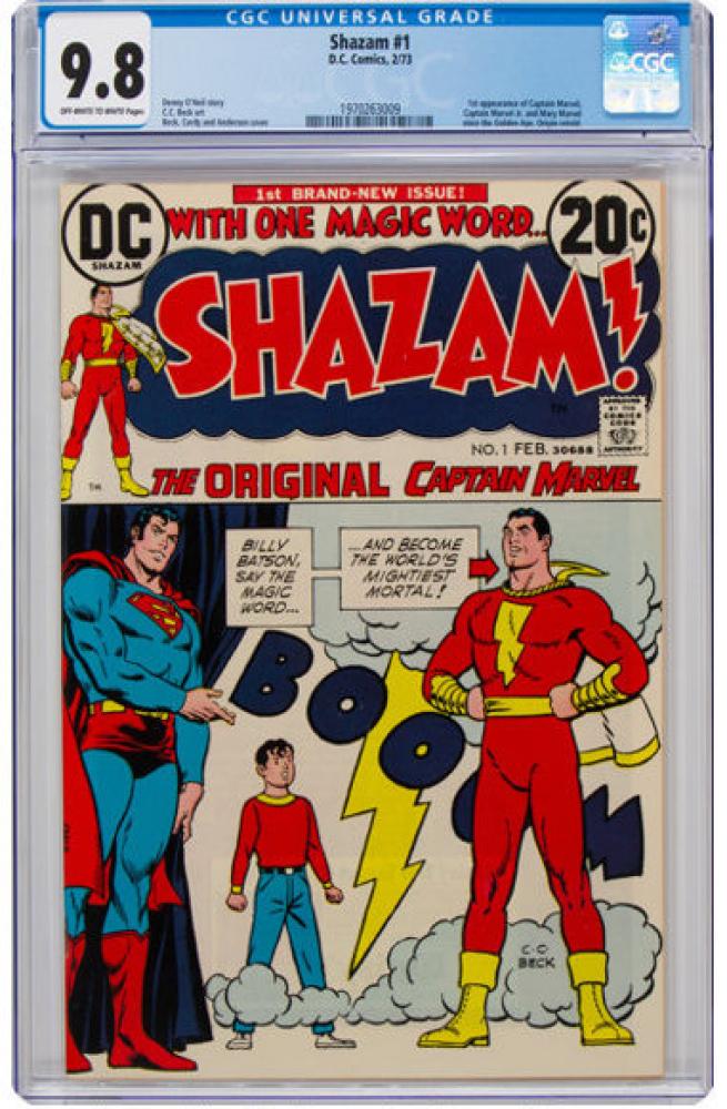 "1973 ""SHAZAM!"" Issue #1 DC Comic Book (CGC 9.8) at PristineAuction.com"