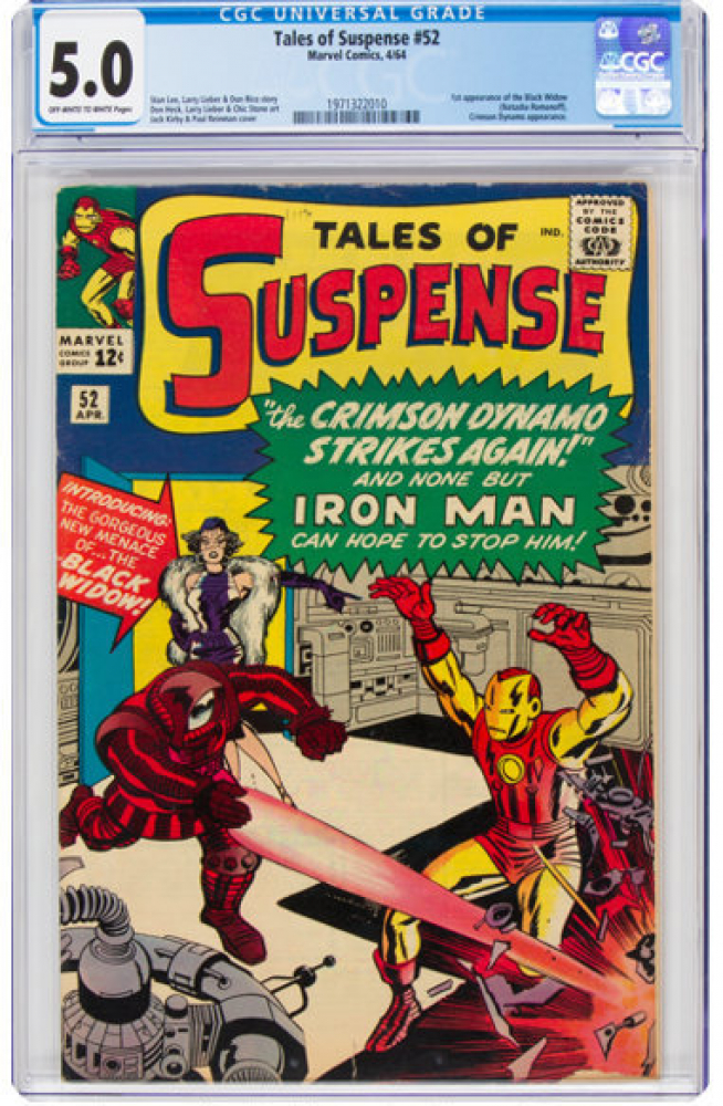 "1964 ""Tales of Suspense"" Issue #52 Marvel Comic Book (CGC 5.0) at PristineAuction.com"