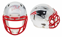 Tom Brady Signed Patriots Chrome Speed Mini-Helmet (TriStar Hologam) at PristineAuction.com