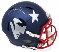 Tom Brady Signed Patriots Full-Size AMP Alternate Speed Helmet (TriStar Hologram) at PristineAuction.com