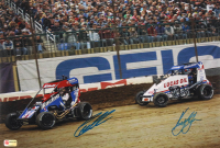 Kyle Larson & Christopher Bell Signed 2020 Chili Bowl 12x17 Photo (PA COA) (Imperfect) at PristineAuction.com
