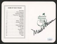 Mark O'Meara Signed Masters Augusta National Golf Club 5x6 Scorecard (JSA COA) at PristineAuction.com