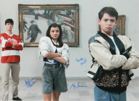 "Matthew Broderick, Alan Ruck & Mia Sara Signed ""Ferris Bueller's Day Off"" 16x20 Photo (Schwartz Sports COA) at PristineAuction.com"