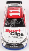 Denny Hamlin Signed 2016 NASCAR #11 Sport Clips - Darlington - 1:24 Premium Action Diecast Car (PA COA) at PristineAuction.com