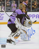 "Tuukka Rask Signed Bruins ""Hockey Fights Cancer"" 8x10 Photo (Rask COA) at PristineAuction.com"