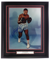 Joe Frazier Signed 22x27 Custom Framed Photo Display (Beckett COA) at PristineAuction.com
