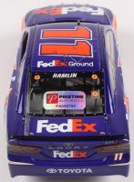 Denny Hamlin Signed 2017 NASCAR #11 FedEx Ground - 1:24 Premium Action Diecast Car (PA COA) at PristineAuction.com