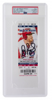 Albert Pujols Signed 2017 Angels vs Twins Ticket (PSA Encapsulated) at PristineAuction.com