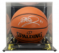 Dirk Nowitzki Signed NBA Game Ball Series Basketball with Display Case (Fanatics Hologram) at PristineAuction.com
