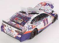 Denny Hamlin Signed 2019 NASCAR #11 FedEx Express - Daytona 500 Win - Raced Version - 1:24 Premium Action Diecast Car (PA COA) at PristineAuction.com