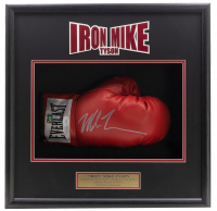 Mike Tyson Signed 18x19x4 Custom Framed Boxing Glove Shadowbox Display (Fiterman Hologram & JSA COA) at PristineAuction.com