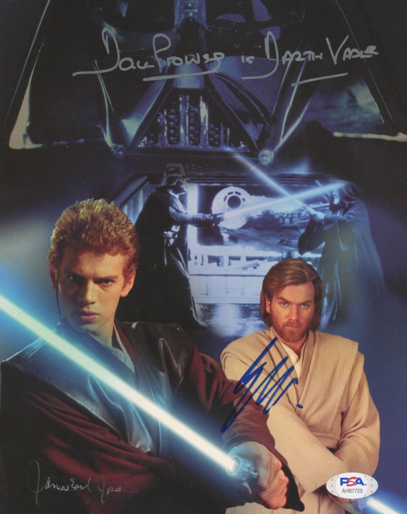 """Dave Prowse, James Earl Jones, & Ewan McGregor Signed """"Star Wars"""" 8x10 Photo Card Inscribed """"Is Darth Vader"""" (PSA Hologram) at PristineAuction.com"""