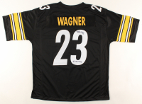 "Mike Wagner Signed Jersey Inscribed ""4x SB Champs"" (JSA COA) at PristineAuction.com"
