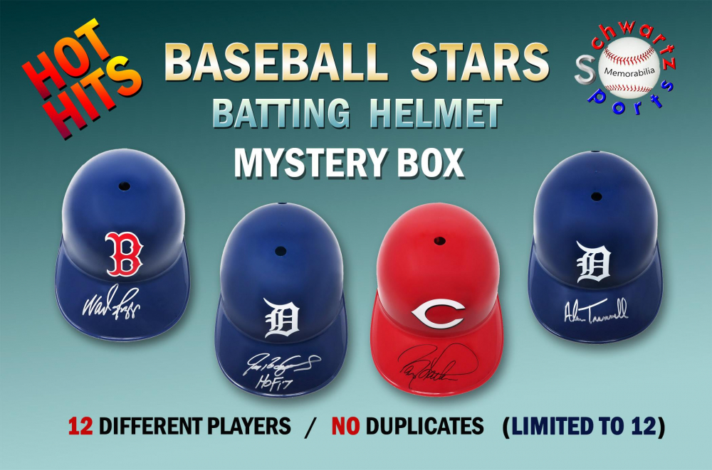Schwartz Sports Hot Hits Baseball Stars Signed Batting Helmet Mystery Box – Series 6 (Limited to 12) at PristineAuction.com