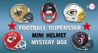 Schwartz Sports Football Superstar Signed Mini Helmet Mystery Box - Series 20 - (Limited to 100) at PristineAuction.com