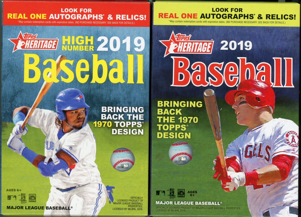 Lot of (2) Baseball Hanger Boxes with 2019 Topps Heritage High # & 2019 Topps Heritage at PristineAuction.com