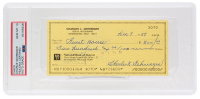 Charles Gehringer Signed 1887 Personal Bank Check (PSA Encapsulated) at PristineAuction.com