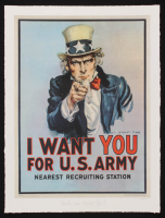"""Historical Photo Archive - """"Uncle Sam Wants You"""" Limited Edition 16.5x22 Fine Art Giclee on Paper #16/375 (PA LOA) at PristineAuction.com"""